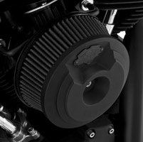 Vance & Hines VO2 Grenade Air Intake Matte Black with Black Badge