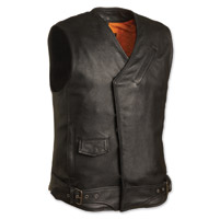 First Manufacturing Co. Men's Sturgis Black Leather Vest