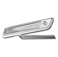 Accutronix Chrome Speed Ball Saddlebag Latch Inserts