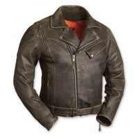 First Manufacturing Co. Men's The 60's New Yorker Distressed Brown Leather Jacket