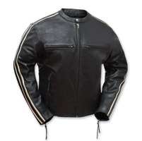 First Manufacturing Co. Men's Fast Fury Black Leather Jacket