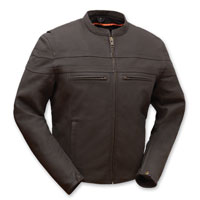 First Manufacturing Co. Men's Adrenaline Brown Leather Jacket