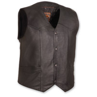 First Manufacturing Co. Men's The Texan Black Leather Vest