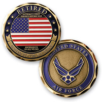 MotorDog69 Retired Air Force Challenge Coin