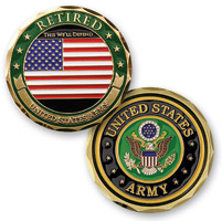 MotorDog69 Retired Army Challenge Coin
