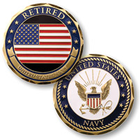 MotorDog69 Retired Navy Eagle Challenge Coin