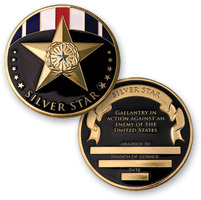 MotorDog69 Silver Star Medal Challenge Coin