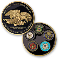 MotorDog69 Thank You Troops Challenge Coin
