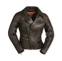 First Manufacturing Co. Women's Monte Carlo Black Leather Jacket