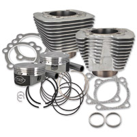 S&S Cycle Silver 1250cc Conversion Kit with Flat Top Pistons