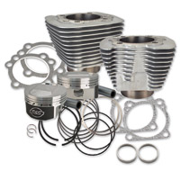 S&S Cycle Silver 1250cc Conversion Kit with Dome Top Pistons