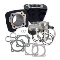 S&S Cycle Wrinkle Black 1250cc Conversion Kit with Dome Top Pistons