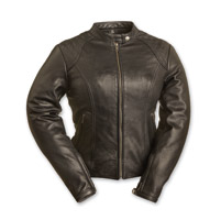First Manufacturing Co. Women's Girly Girl Black Leather Jacket