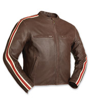 First Manufacturing Co. Men's Fast Pace Brown Leather Jacket