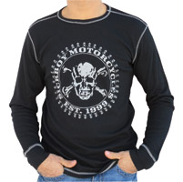 Sick Boy Men's Est. 1999 Black Thermal Long Sleeve Tee