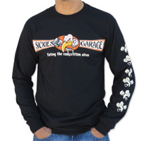 Sick Boy Men's Sickies Garage Vulture Black Long Sleeve Tee