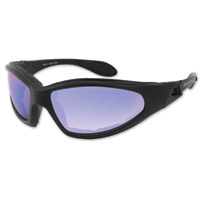 Bobster GXR Black Frame Sunglasses w/ Smoked Blue Mirror Len