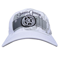 Sick Boy Sickies Garage Curved Bill Fitted White Hat