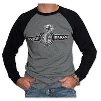 Sick Boy Men's Sickies Garage Cobra Gray/Black Baseball Shirt