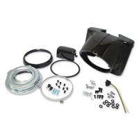 J&P Cycles® Gloss Black Nacelle Headlamp Kit
