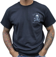 Sick Boy Men's Mechanic Skull Black T-Shirt