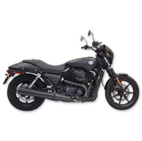 Bassani 4″ Black Straight Cut Long Slip-On Mufflers