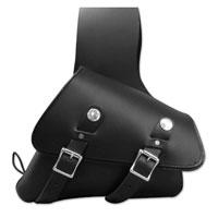 Leatherworks, Inc. Black Throwover Saddlebags