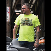 Easyriders Men's Get Off My Ass Saftey Green T-Shirt