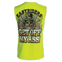 Easyriders Men's Get Off My Ass Safety Green Sleeveless T-Shirt