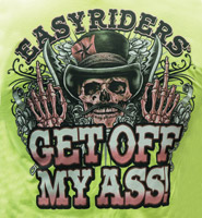 Easyriders Get Off My Ass Men's Safety Green Zip-Up Hoodie