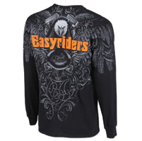Easyriders Men's AO Eagle Black Long-Sleeve T-Shirt