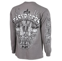 Easyriders Assaulted Men's Charcoal Long-Sleeve T-Shirt