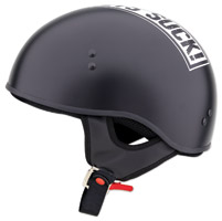 Limited Edition Helmets Suck Matte Black Half Helmet
