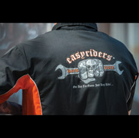 Easyriders Men's Reflective Hardcore Black/Orange Workshirt