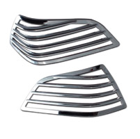 SoCalMotoGear Chrome Saddlebag Light Guards