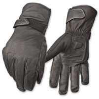 Highway 21 Men's Granite Black Leather Gloves