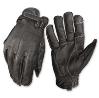 Highway 21 Men's Pitt Black Leather Gloves