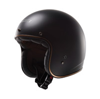 LS2 Kurt Matte Black Open Face Helmet