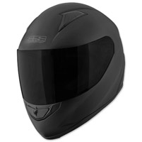 Speed and Strength SS1500 Solid Speed Matte Black Full Face Helmet