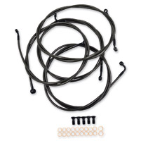 LA Choppers Midnight Cable/Brake Line Kit for Beach/Extra Wide Handlebars on Models with ABS