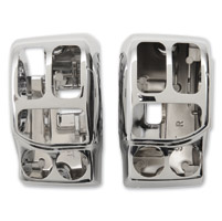 Drag Specialties Chrome Radiused Switch Housing Kit with Radio and Cruise