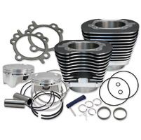 S&S Cycle 107″ Wrinkle Black Big Bore Kit