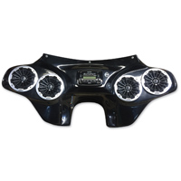 Reckless Motorcycles Fiberglass Fairing with Stereo