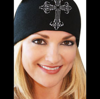 That's A Wrap Gothic Cross Black Beanie