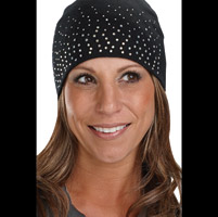 That's A Wrap Dazzle Crystal Black Beanie