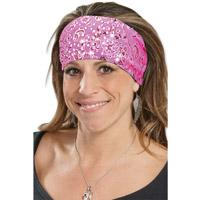 That's A Wrap Foil Bandana Pink Dazzle Knotty Band
