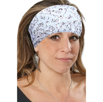 That's A Wrap Foil Bandana White Dazzle Knotty Band