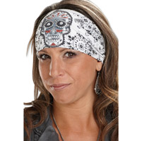 That's A Wrap Eye Candy Bandana White Knotty Band