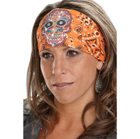 That's A Wrap Eye Candy Bandana Orange Knotty Band