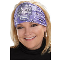 That's A Wrap Eye Candy Bandana Purple Knotty Band